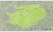 Physical 3D Map of Fada N'gourma, semi-desaturated