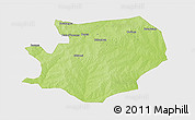 Physical 3D Map of Fada N'gourma, single color outside