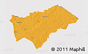 Political 3D Map of Gayeri, cropped outside