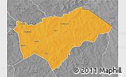 Political 3D Map of Gayeri, desaturated