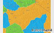 Political 3D Map of Gayeri