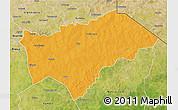 Political 3D Map of Gayeri, satellite outside