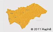 Political 3D Map of Gayeri, single color outside