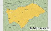 Savanna Style 3D Map of Gayeri