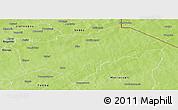 Physical Panoramic Map of Gayeri
