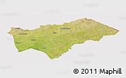 Satellite Panoramic Map of Gayeri, cropped outside
