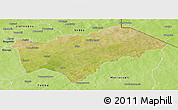 Satellite Panoramic Map of Gayeri, physical outside