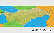 Satellite Panoramic Map of Gayeri, political outside