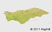 Satellite Panoramic Map of Gayeri, single color outside