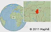 Savanna Style Location Map of Gourma, hill shading