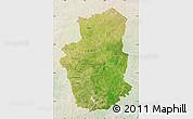 Satellite Map of Gourma, lighten
