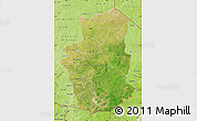 Satellite Map of Gourma, physical outside