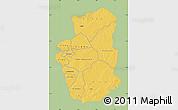 Savanna Style Map of Gourma, single color outside