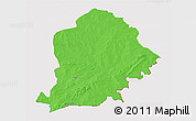 Political 3D Map of Pama, cropped outside