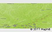 Physical Panoramic Map of Pama
