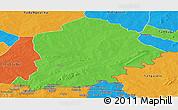 Political Panoramic Map of Pama