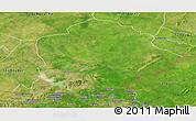 Satellite Panoramic Map of Pama