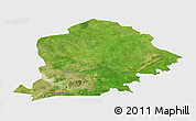 Satellite Panoramic Map of Pama, single color outside