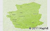Physical Panoramic Map of Gourma, lighten