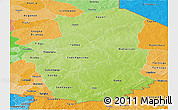 Physical Panoramic Map of Gourma, political shades outside