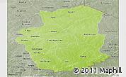 Physical Panoramic Map of Gourma, semi-desaturated