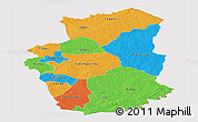 Political Panoramic Map of Gourma, cropped outside