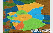 Political Panoramic Map of Gourma, darken