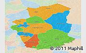 Political Panoramic Map of Gourma, lighten