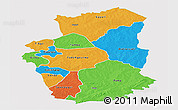 Political Panoramic Map of Gourma, single color outside