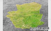 Satellite Panoramic Map of Gourma, desaturated