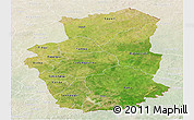 Satellite Panoramic Map of Gourma, lighten