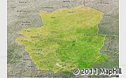 Satellite Panoramic Map of Gourma, semi-desaturated