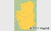 Savanna Style Simple Map of Gourma