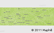 Physical Panoramic Map of Yamba