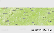Physical Panoramic Map of Badema
