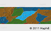 Political Panoramic Map of Badema, darken