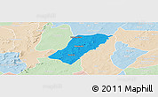 Political Panoramic Map of Badema, lighten