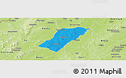 Political Panoramic Map of Badema, physical outside