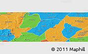 Political Panoramic Map of Badema