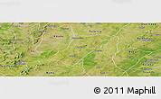 Satellite Panoramic Map of Badema