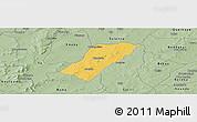 Savanna Style Panoramic Map of Badema