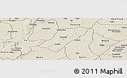 Shaded Relief Panoramic Map of Badema
