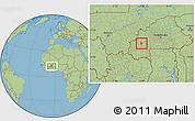 Savanna Style Location Map of Bekuy