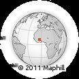 Outline Map of Bobo-Dioulasso