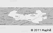 Gray Panoramic Map of Bobo-Dioulasso