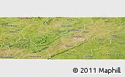 Satellite Panoramic Map of Bobo-Dioulasso