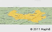 Savanna Style Panoramic Map of Bobo-Dioulasso