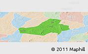 Political Panoramic Map of Hounde, lighten