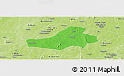 Political Panoramic Map of Hounde, physical outside