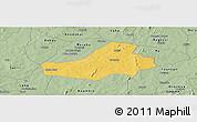 Savanna Style Panoramic Map of Hounde